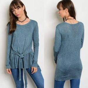 NEW Tie Front Tunic - Blue